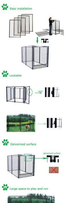 Backyard garden cheap large heavy duty dog house/dog kennel/dog cage ...
