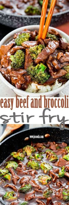 Easy Beef and Broccoli Stir Fry - forget take-out! In 15 minutes you