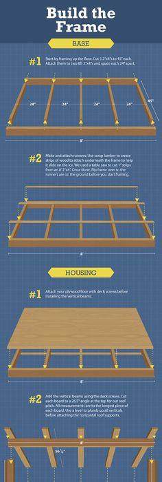 fish house ice shanty trailer frames kits do-it-yourself | ice