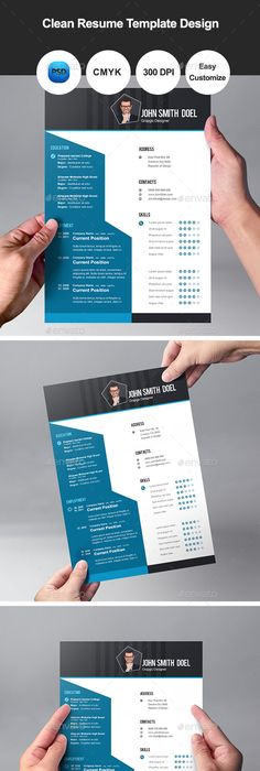 Flat Resume Template  Psd Templates Template And Resume Cv