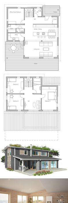 Plan de la maison  LOFT 3 Maison Pinterest