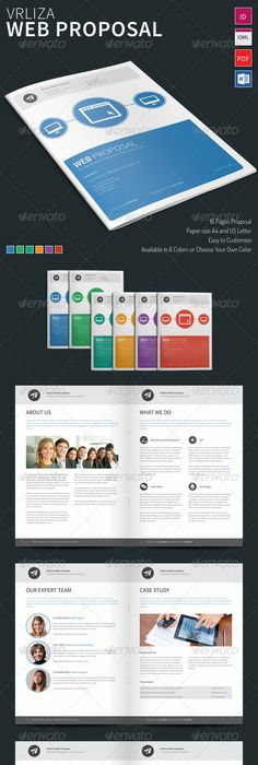 Clean Proposal  Brief Template  Proposals Template And Brochures
