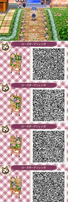 Animal Crossing New Leaf Qr Codes Petal Path Bumbury Lawn