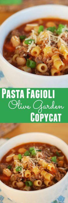 Olive+Garden+Pasta+e+Fagioli+Soup+Copycat+Recipe   Soups   Pinterest ...