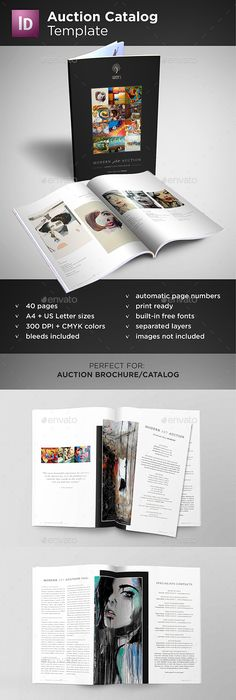 A Product Catalog Template Product Catalog Template Brochure - Auction brochure template