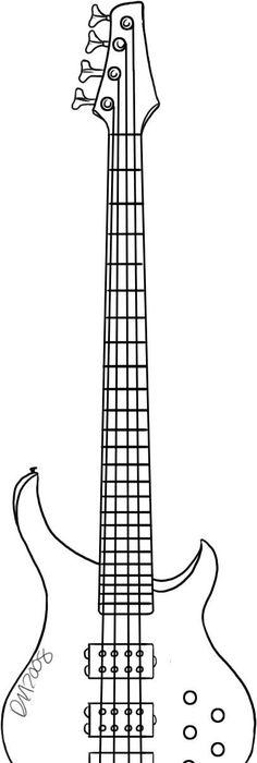 Guitar Caricature In Pencil
