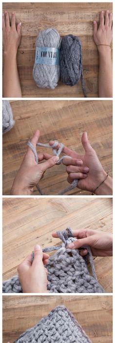 Die einfachste Anleitung zum Häkeln lernen + einfache Stäbchen ...
