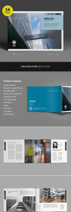Business Brochure Indesign Template A4 3 Fold Indesign