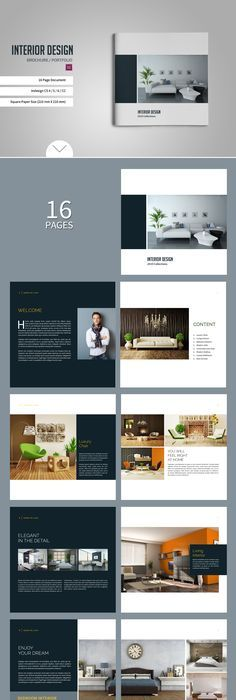 minimal interior design brochure brochures editorial design and