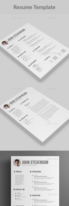 Minimalist Resume Template AI, PSD, DOCX | Resume tips | Pinterest ...