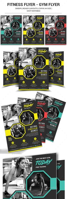 Fitness Flyer Flyer template and Crossfit diet