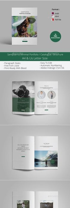 My Portfolio Brochures Template And Photography Brochure