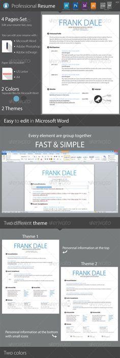 Resume Cv template, Template and Resume cv