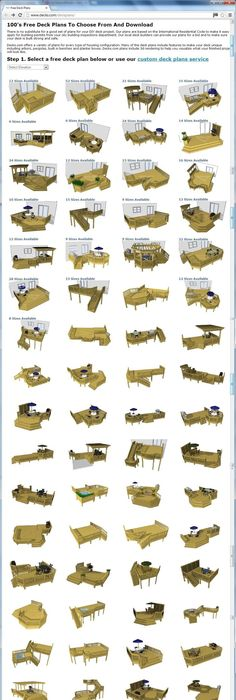 100u0027s Of Free Deck Plans You Can Choose From And Download At