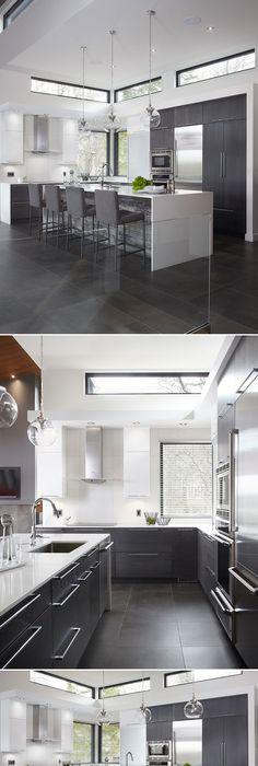 Armoires De Cuisine Moderne Lustrés En Acrylux Thermoplastique - Porte placard coulissante jumelé avec serrurier paris 75004