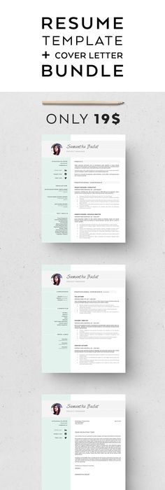 Modern Resume  Coverletter Template Modern resume, Template and