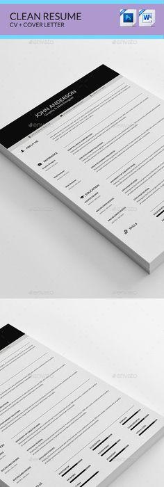 Resume Template PSD #design Download   graphicrivernet/item