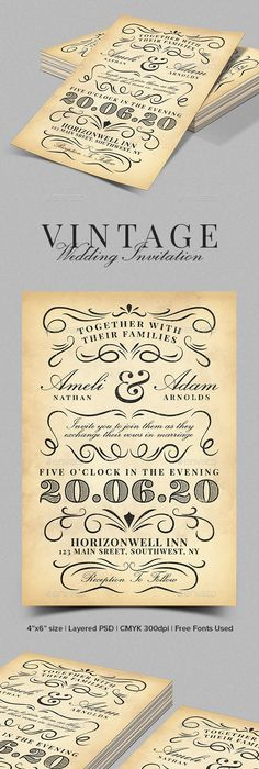 vintage wedding invite template anniversaries template and filing