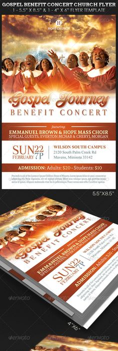 Gospel Benefit Concert Church Flyer Template  Gospel Concert