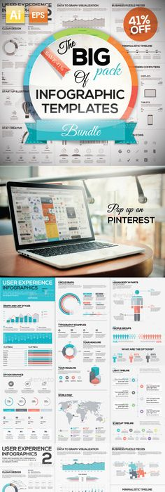 Social media laboratory powerpoint template design pinterest the big pack of infographic ai eps templates save 41 design download toneelgroepblik Images