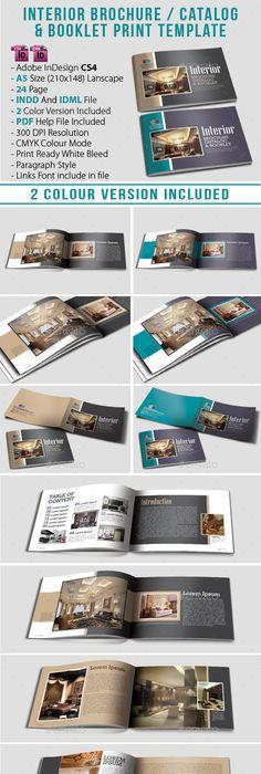 A Landscape BrochureLook Book Indesign Template  Catalogs