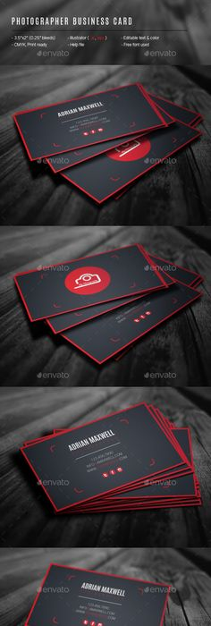 Photographer business card photographer business cards business photographer business card template design download httpgraphicriver reheart Images