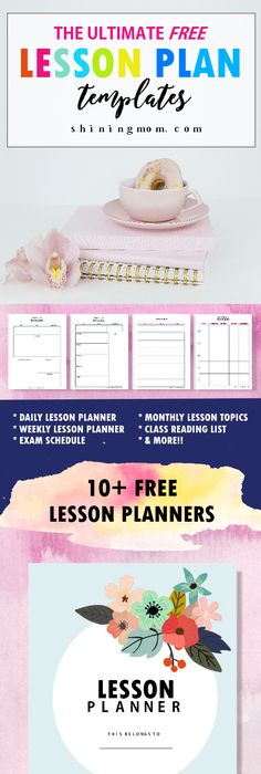 Printable Lesson Plan Template In Pdf Format  Dream Library