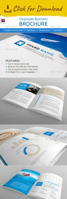 A Professional Corporate Brochure  Brochures Corporate Brochure