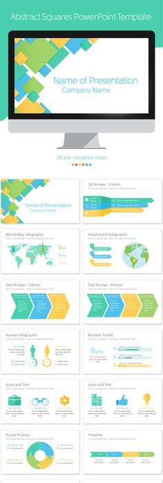 Infographics with arrows and cubes infographics cube and arrow abstract squares powerpoint template with 28 pre designed slides presentations powerpoint toneelgroepblik Gallery