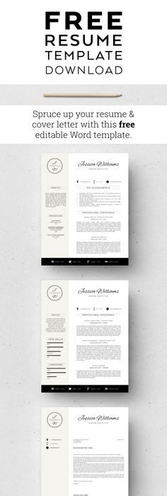 Resume And Cover Letter Free Modern Resume Template That Comes With Matching Cover Letter