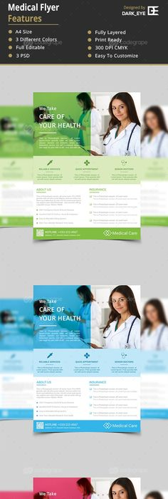 Medical Flyers Templates  Flyer Template Medical And Authors