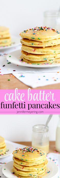 1c Bisquick 1c white cake mix 1c milk 2 eggs best pancakes EVER