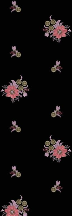 Paisley And Floral Figure Design Embroidery Dupatta Motifs