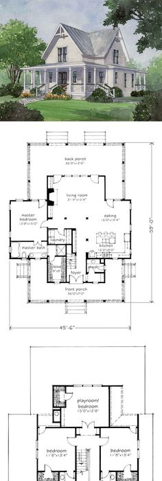 Looking for the best house plans check out the four gables plan from southern living