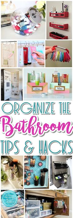 Easy inexpensive do it yourself ways to organize and decorate your bathroom and vanity the best diy space saving projects and organizing ideas on a budget