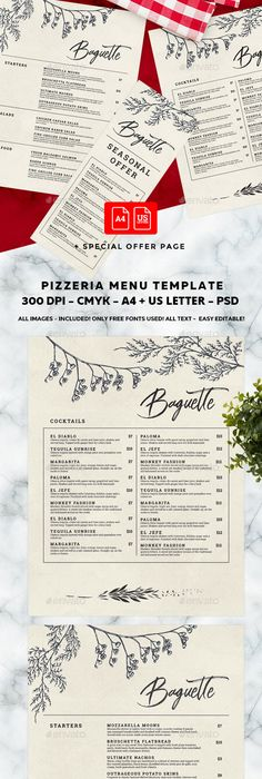 Minimal Menu Template  Menu Templates Food Menu And Print Templates