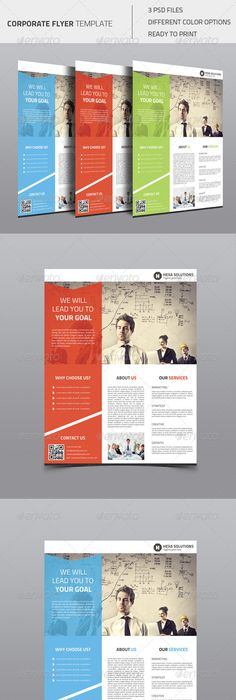 Modern corporate flyer template PSD file Free Download