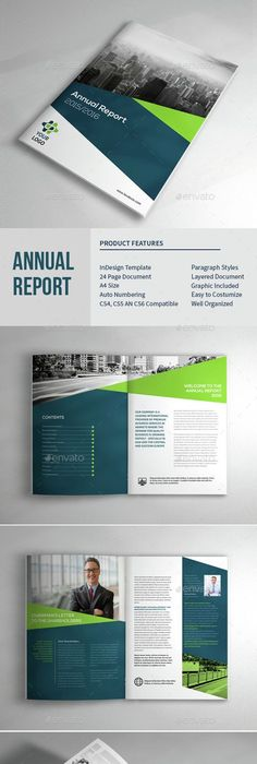 Minimal and Professional Annual Report Design Template InDesign INDD ...