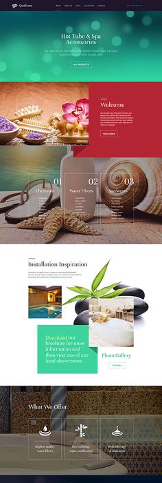 Template   Spa Salon OnePage Website Template Design With