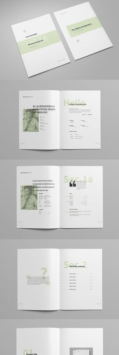Minimal Portfolio Brochure Template InDesign INDD - 14 Pages A5 ...