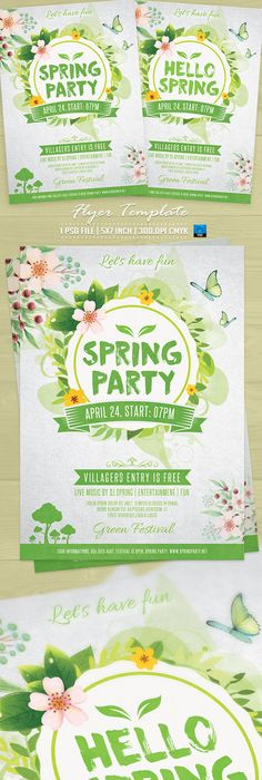 Spring Party Flyer Template V  Party Flyer Flyer Template And