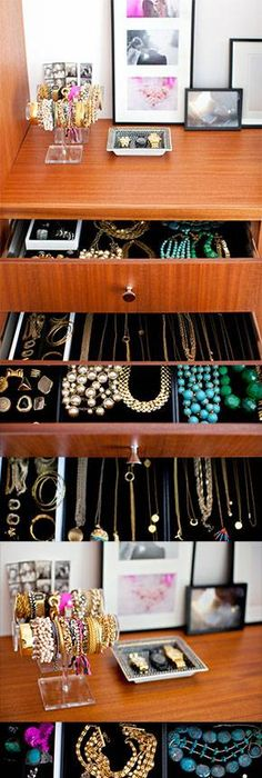 Anatomy Of An Organized Jewelry Box Jewelry drawer Jewellery