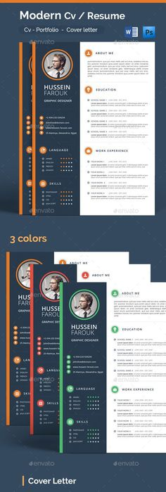 Colorful Graphic Design Resume  Cv    Graphic
