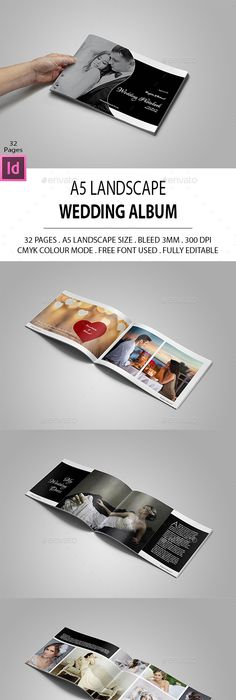 Landscape Photography Portfolio — InDesign Template #charts ...