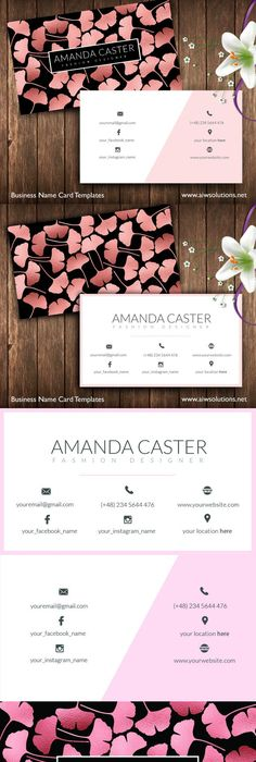 Simple fresh petals female theme business card background design - fresh invitation template vector