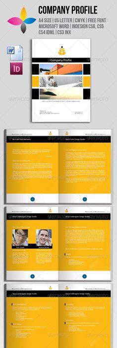 Professional Company Profile Brochure Template  Brochure Template