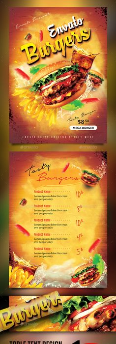 restaurant flyer template vol 8 flyer template and template