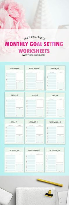 Printable Goal Sheet With Room For Your Action Plan And