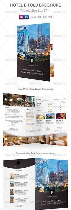 Clean Book  Brochure Template Clean book, Brochure template and - half fold brochure template