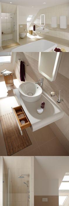 1 Blick ins #Badezimmer #weiß #grau# Eichenholz #Bad Bath